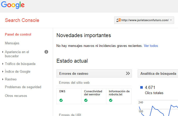 Herramientas de marketing online: Google Search Console